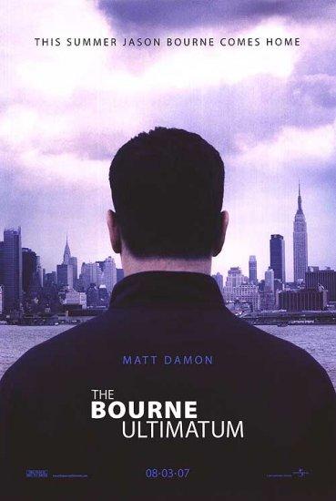 Bourne Ultimatum Advance Original Movie Poster Double Sided 27x40