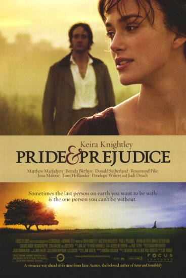 Pride & Prejudice  Original Movie Poster  Single Sided 27 X40