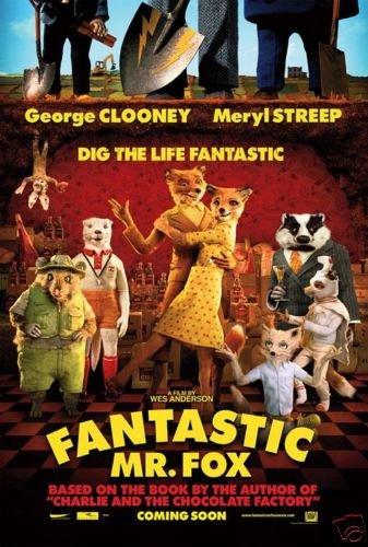 Fantastic Mr Fox Advance  Original Movie Poster  Double Sided 27 X40