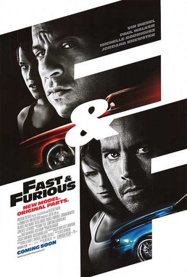 Fast & The Furious New Model International Original Movie Poster Double Sided 27x40
