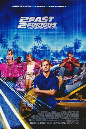 2Fast 2Furious International Original Movie Poster 27X40 Double Sided