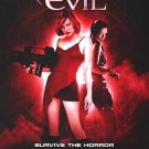 Resident Evil International Original Movie Poster  Double Sided 27 X40
