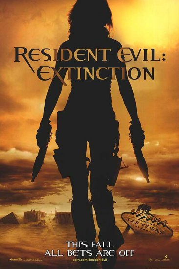 Resident Evil Extinction Advance Original Movie Poster Double Sided 27 X40