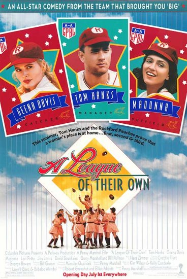 A League of Their Own Original Movie Poster 27 X40 Single Sided