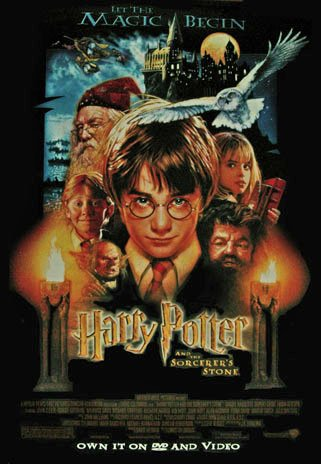 Harry Potter and the Sorcerer's Stone Video Poster Original Movie Poster Single Sided 27x40