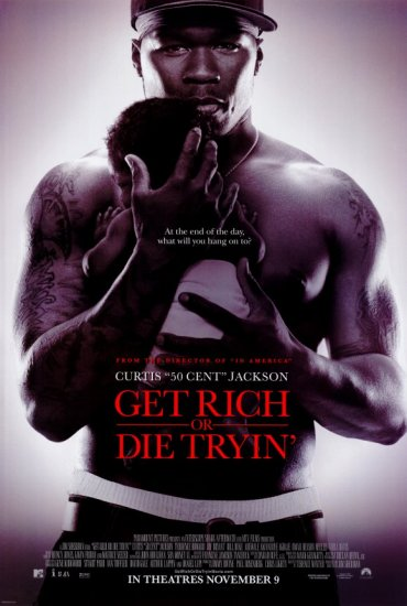 Get Rich or Die Tryin' Ver B Original Movie Poster Double Sided 27x40