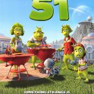 Planet 51 Advance  Original Movie Poster  Double Sided 27 X40