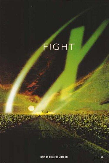 X Files Green  Original Movie Poster  Single Sided 27 X40