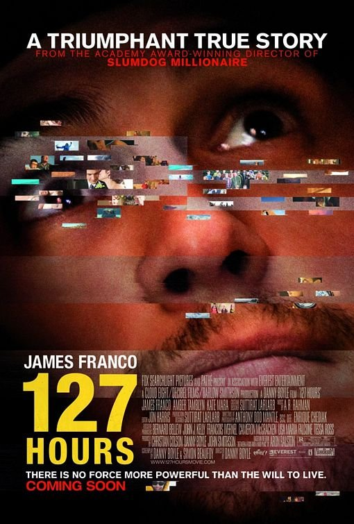 127 Hours Regular Original Movie Poster  Single Sided 27 X40