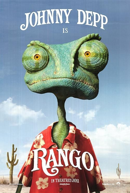 Rango Advance Original Theatrical Movie Poster  Double Sided 27 X40