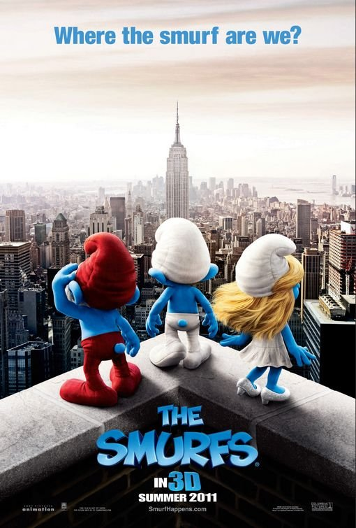 Smurfsl Advance Original Theatrical Movie Poster  Double Sided 27 X40
