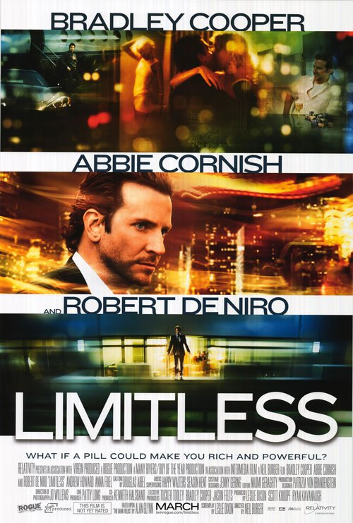 Limitless Original Theatrical Movie Poster  Double Sided 27 X40