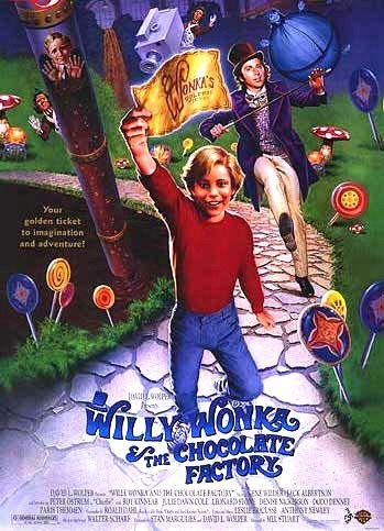 Willy Wonka and the Chocolate factory Original Theatrical Movie Poster  Double Sided 27 X40