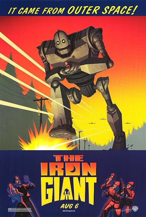Iron Giant Original Movie Poster  Double Sided 27 X40