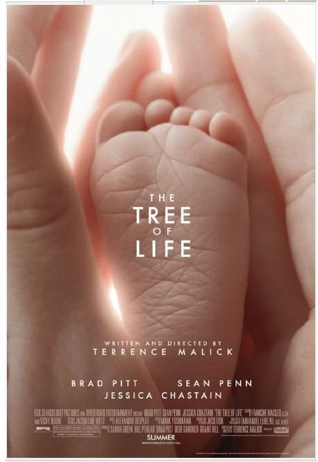 Tree of Life Original Movie Poster  Double Sided 27 X40