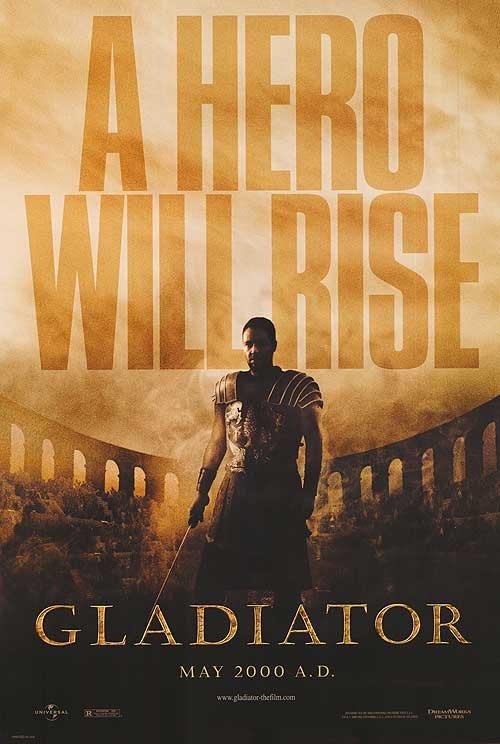 Gladiator Advance Original Movie Poster Single Sided 27x40