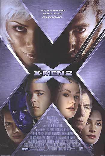 X-Men 2 Spanish Original Movie Poster Double Sided 27x40