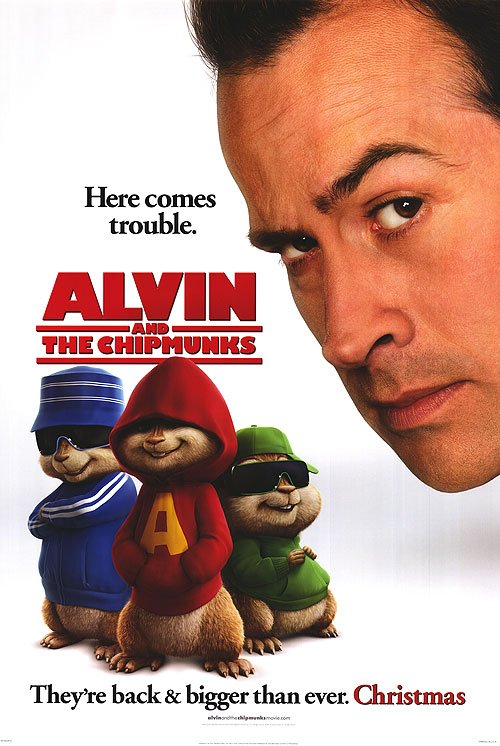 Alvin and the Chipmunks Version A Original Movie Poster Single Sided 27 X40