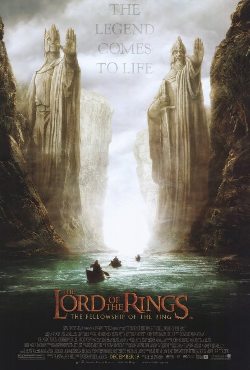Lord of the Rings : Fellowship of the Ring (River)  Double Sided Original Movie Poster 27x40