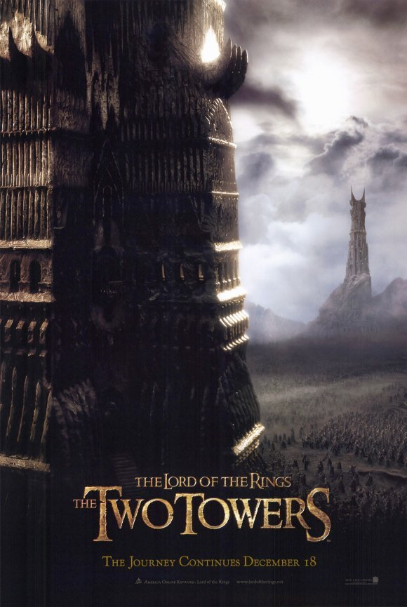 Lord of the Rings : Two Towers Advance Single Sided Original Movie Poster 27x40