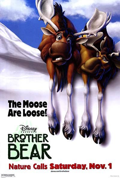 Brother Bear Version B  Double Sided Original Movie Poster 27x40