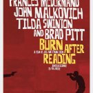 Burn After Reading Advance Double Sided Original Movie Poster 27x40