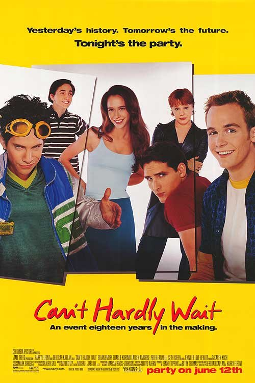 Can't hardly Wait (Yellow) Double Sided Original Movie Poster 27x40