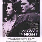 We Own The Night Original Movie Poster  Double Sided 27 X40