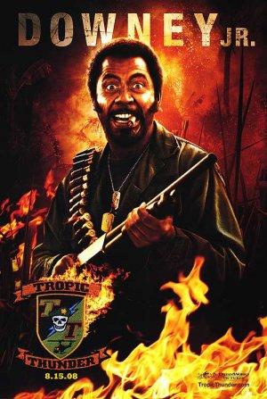 Tropic Thunder (Downey ) Original Movie Poster Single Sided 27 X40