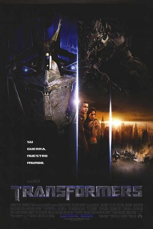 Transformers Spanish Original Movie Poster Double Sided 27 X40