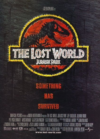 Jurassic Park (The Lost World) Double Sided  Movie Poster 27X40 Original