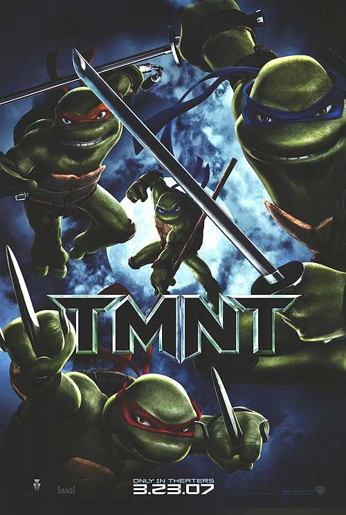 Teenage Mutant  Ninja Turtles Original Movie Poster Double Sided 27 X40
