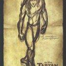 Tarzan Advance Original Movie Poster Double Sided 27 X40
