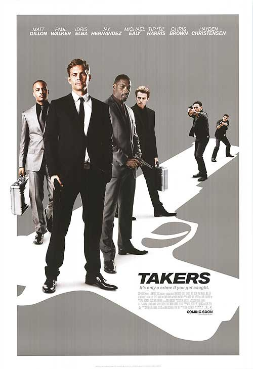 Takers  (White) Original Movie Poster Double Sided 27 X40