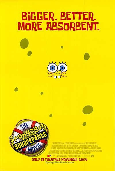 Spongebob Squarepants The Movie Original Movie Poster Double Sided 27 X40
