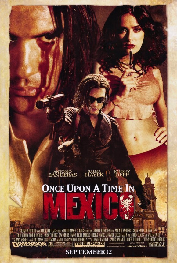 Once Upon A Time In Mexico  Original Movie Poster Double Sided 27 X40