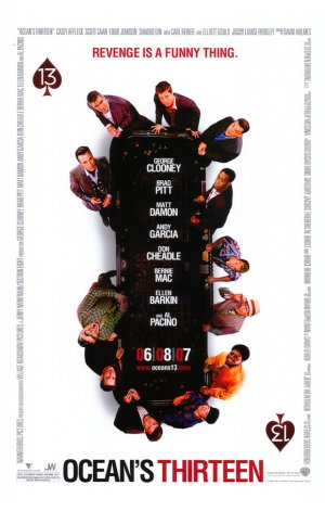Ocean's 13 White Original Movie Poster Double Sided 27 X40