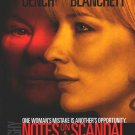 Notes On A Scandal Original Movie Poster Double Sided 27 X40