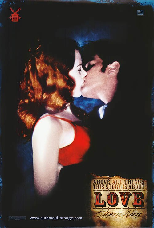 Moulin Rouge Version D Original Movie  Poster Double Sided 27 X40 DBL SIDED