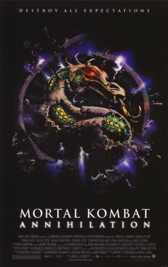 Mortal Kombat Annihilation Original Movie Poster Single Sided 27x40