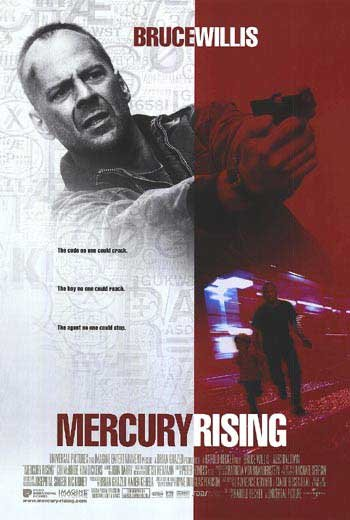 Mercury Rising Intl Original  Movie Poster 27X40 Double Sided