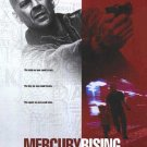 Mercury Rising Intl Original  Movie Poster 27X40 Double Sided