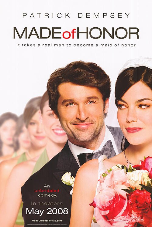 Made of Honor Original Movie Poster Double Sided 27 X40