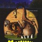 Madagascar (New York) Original Movie Poster Double Sided 27 X40