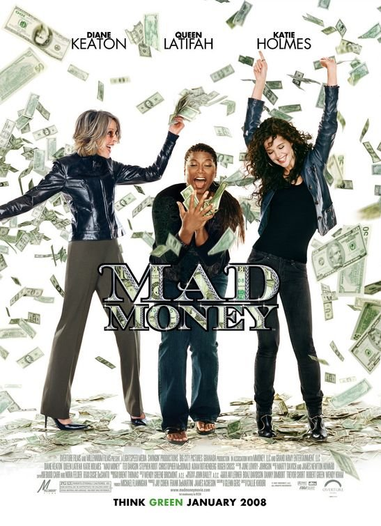 Mad Money Original Movie Poster Double Sided 27x40