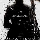 Anonymous Original Movie Poster Double Sided 27 X40
