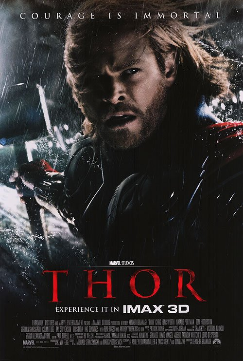 Thor Regular Original Movie Poster Double Sided 27 X40