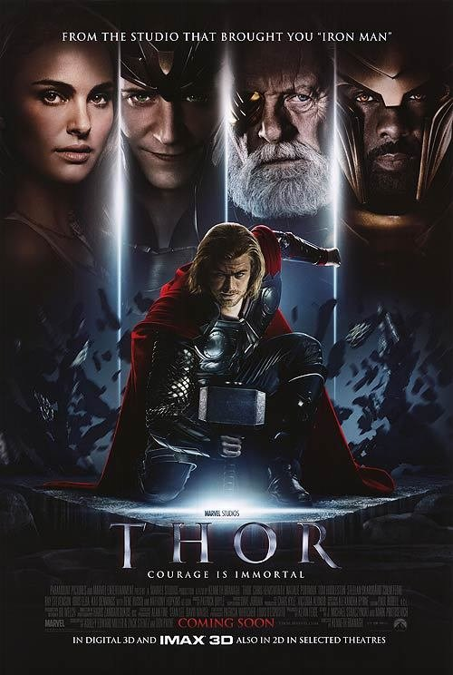 Thor Intl B Original Movie Poster Double Sided 27 X40