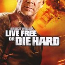 Live Free or Die Hard Dvd Original Movie Poster Double Sided 27 X40