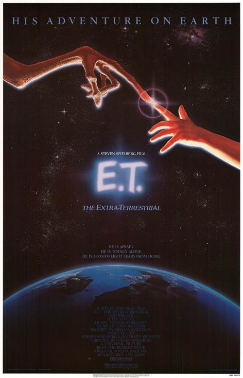 E.T. Extra Terrestrial 1982 Rolled Original Movie Poster Single Sided 27 X41